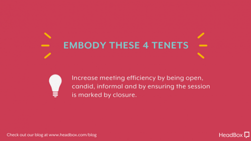 Embody These 4 Tenets - Better Meeting Outcomes