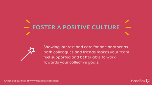 Foster a Positive Culture - Better Meeting Outcomes