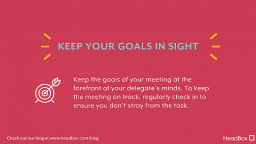 Keep Goals In Sight - Better Meeting Outcomes