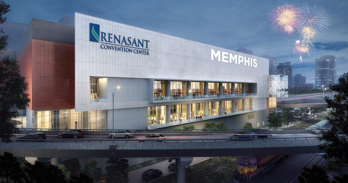 Expanded Renasant Convention Center Lights up Memphis