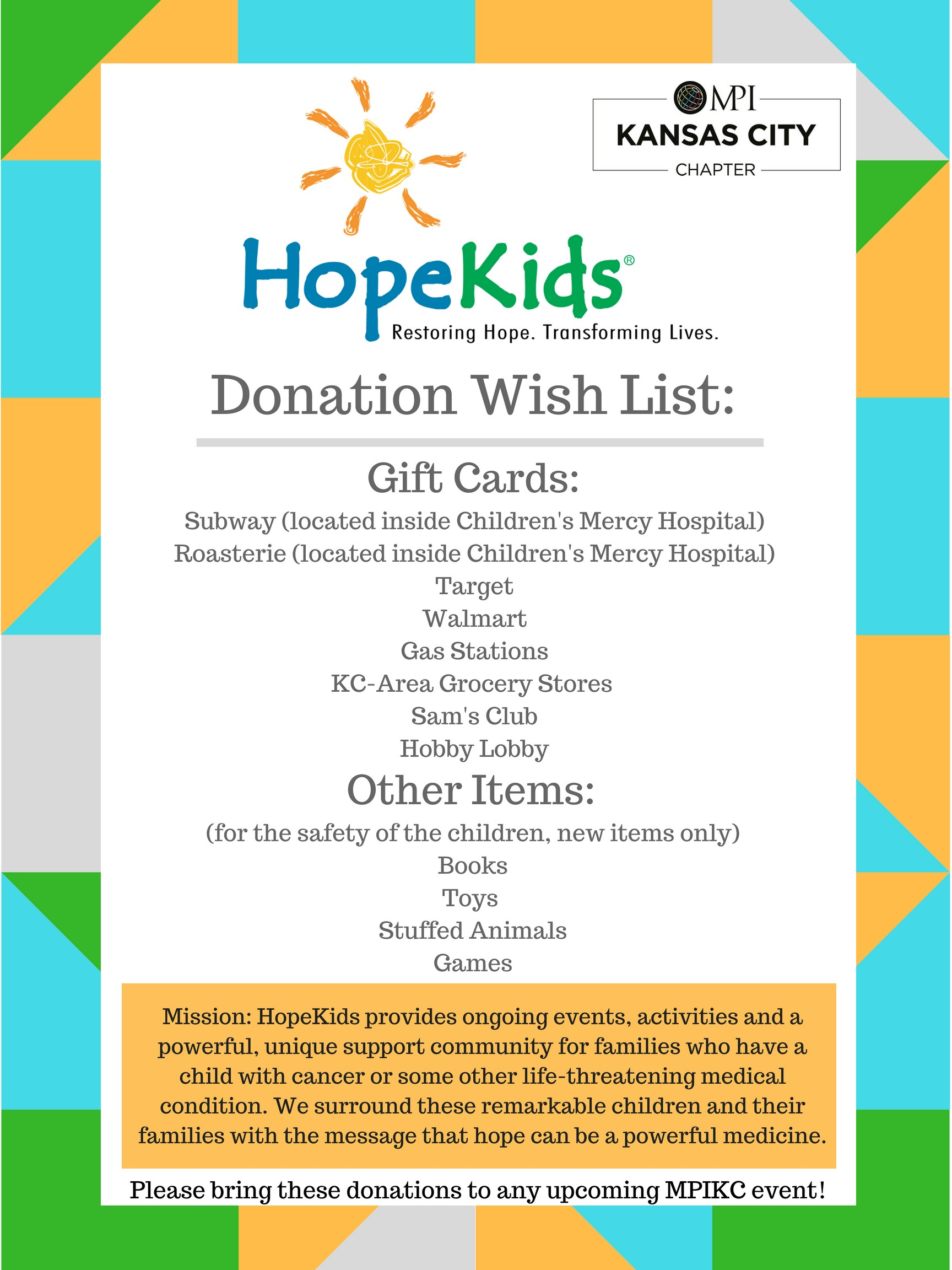 HopeKids Flyer