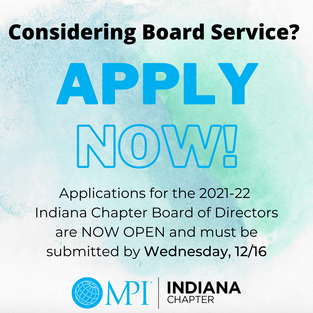 Considering board service? Apply now!