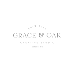 grace and oak - branding and web design for small businesses in canada