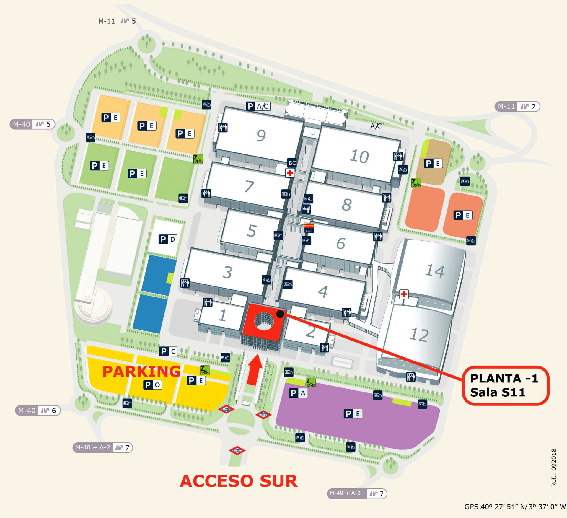 Mapa de accesos Gamergy Madrid
